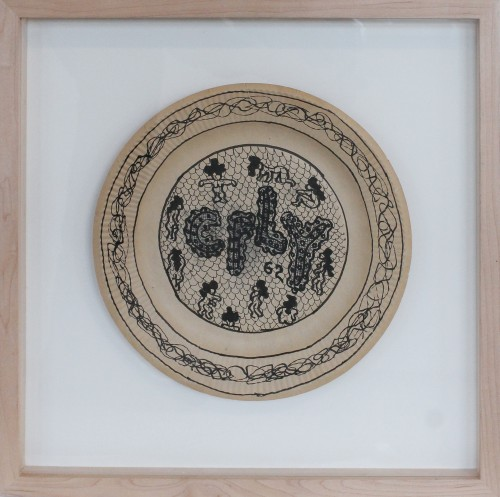 WILLIAM N. COPLEY<br />»Untitled«, 1962<br />marker on paper plate, 23,5 x 23,5 cm<br />