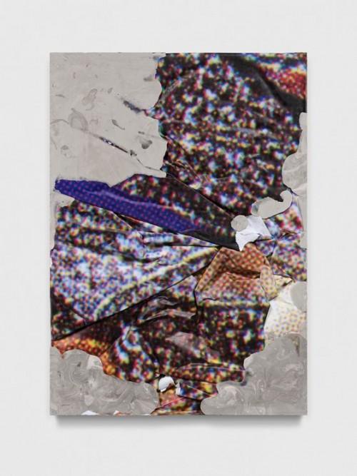 PELES EMPIRE<br />»FGX18«, 2018<br />paper, jesmonite, 42 x 30 x 2 cm<br />