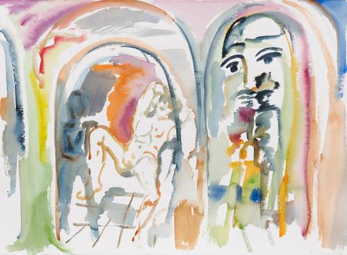 SOPHIE VON HELLERMANN<br /><i>Daisy Miller</i>, 2017<br />watercolor on paper, 56 x 76 cm<br />