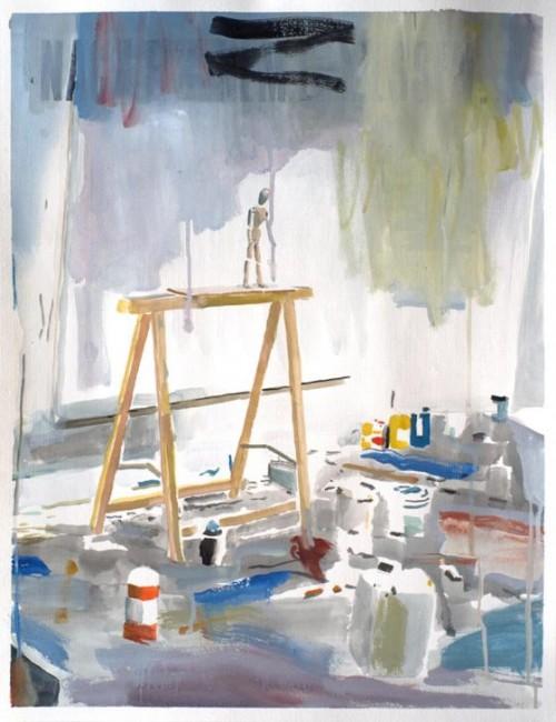 WAWRZYNIEC TOKARSKI<br />»at will«, 2016<br />gouache on paper, 65 x 50 cm<br />
