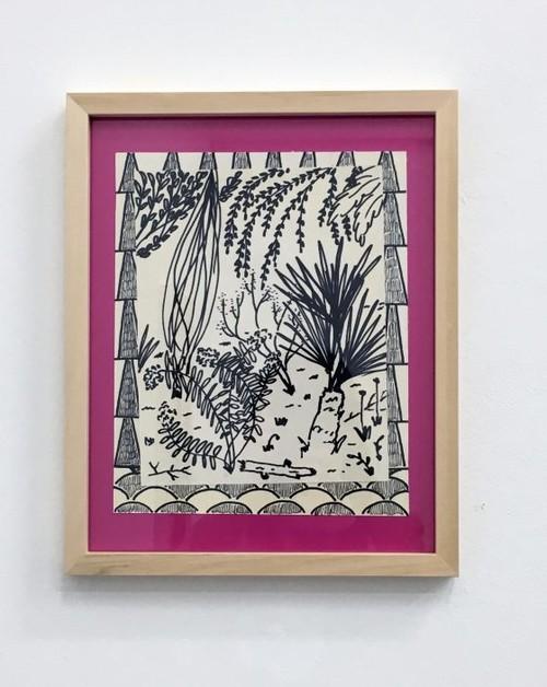 JOHN MCALLISTER<br /><i>back to some future</i>, 2017<br />pen on paper, 25 x 20 cm<br />