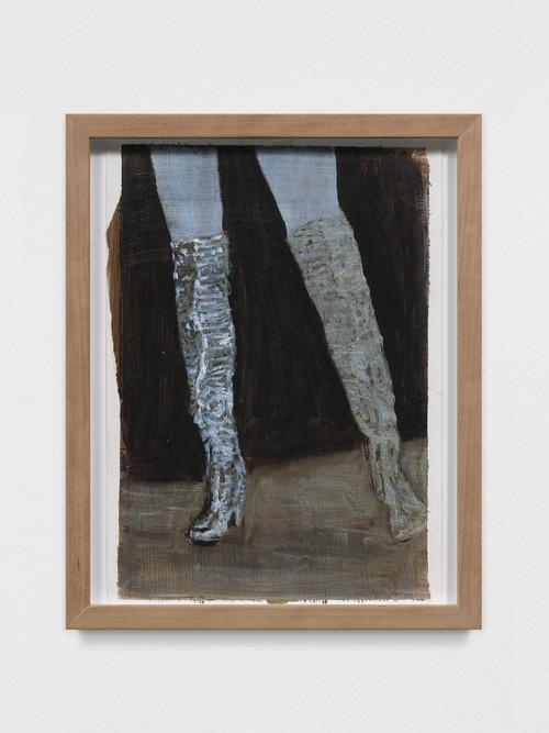 AXEL GEIS<br /><i>o. T.</i>, 2017<br />oil paint on paper, 29,5 x 21 cm<br />