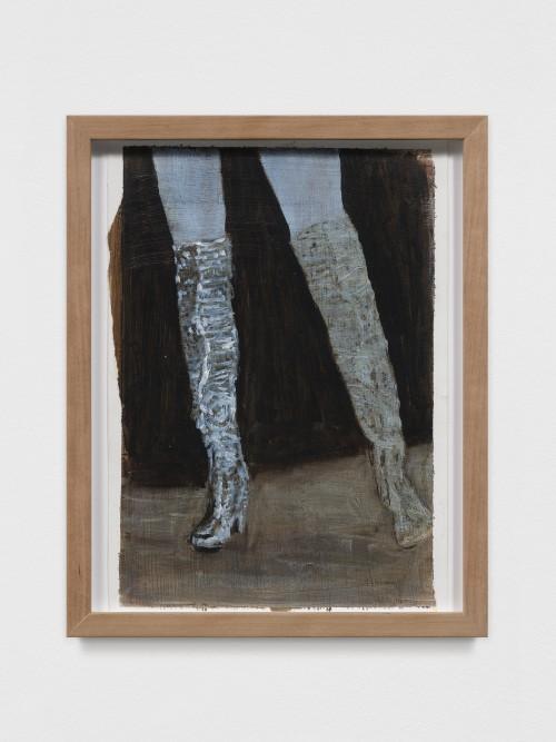 AXEL GEIS<br />»o. T.«, 2017<br />oil paint on paper, 29,5 x 21 cm<br />