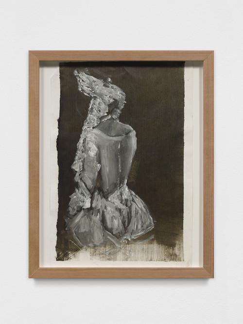 AXEL GEIS<br /><i>o. T.</i>, 2017<br />oil on paper, 29,5 x 21 cm<br />