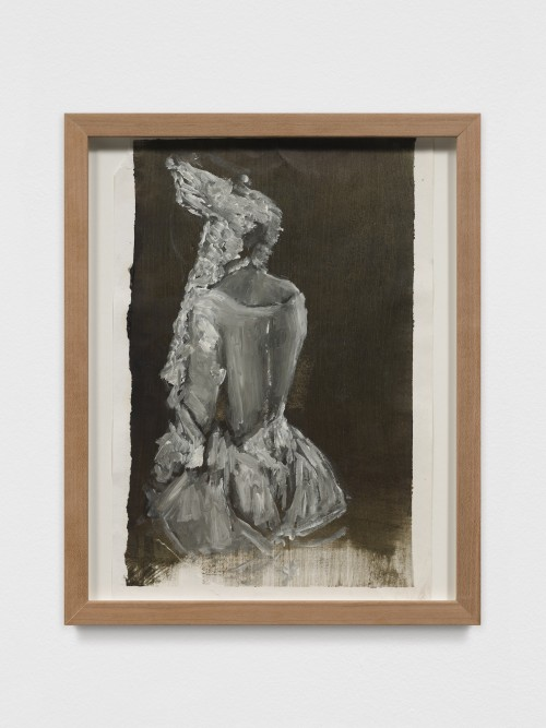 AXEL GEIS<br />»o. T.«, 2017<br />oil on paper, 29,5 x 21 cm<br />