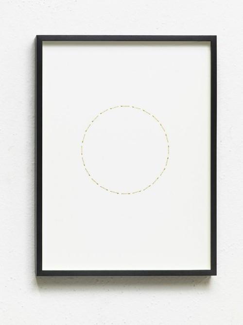 ALICJA KWADE<br /><i>24 Stunden (ZeitZirkel)</i>, 2017<br />brass, nickel-plated on cardboard, 41 x 31 x 3 cm<br />