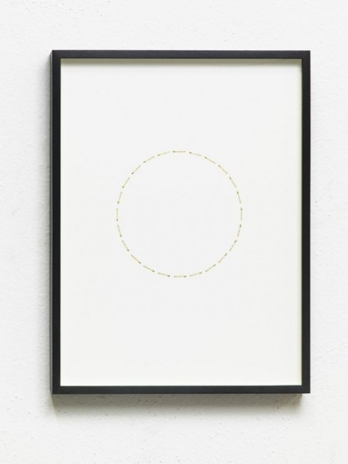 ALICJA KWADE<br />»24 Stunden (ZeitZirkel)«, 2017<br />brass, nickel-plated on cardboard, 41 x 31 x 3 cm<br />