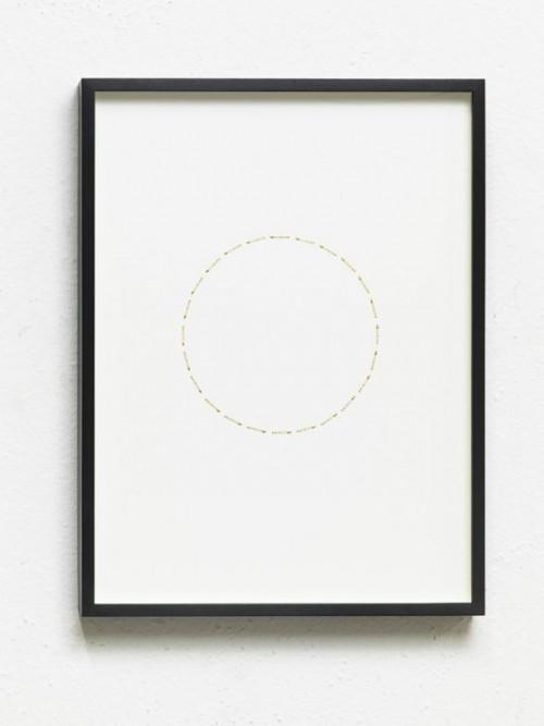 ALICJA KWADE<br />»24 Stunden (ZeitZirkel)«, 2017<br />brass, nickel-plated on cardboard, 41 x 31 x 3 cm<br />