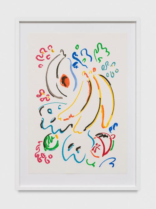 SOL CALERO<br /><i>Dibujo, 22</i>, 2017<br />oil pastel on paper, 60 x 42 cm<br />
