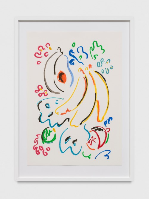 SOL CALERO<br />»Dibujo, 22«, 2017<br />oil pastel on paper, 60 x 42 cm<br />