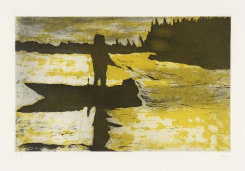 PETER DOIG<br />»Grasshopper«, 1997<br />folder with 10 etchings, 53 x 36 cm<br />