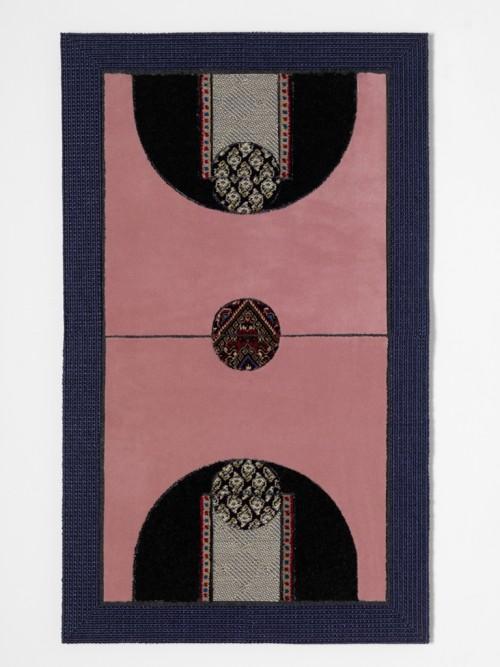 »Pattern Matching Pink«, 2010<br />carpet pieces, 128 x 75 cm<br />