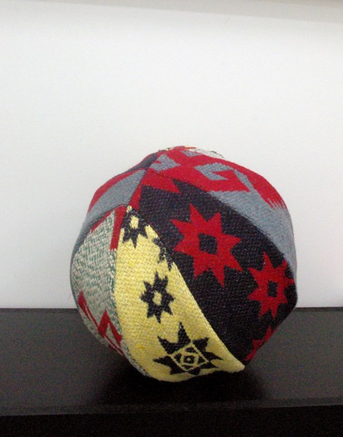 »Teppichball«, 2010<br />basketball covered with carpet, Ø 26 cm<br />