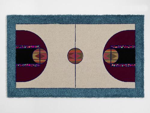 <i>Pattern Matching Grey Beige</i>, 2010<br />carpet pieces, 150 x 256 cm<br />