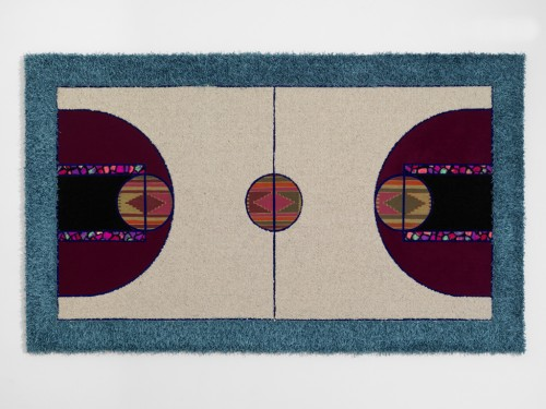 »Pattern Matching Grey Beige«, 2010<br />carpet pieces, 150 x 256 cm<br />