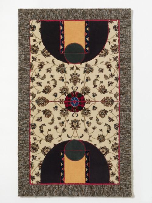 »Pattern Matching Beige Flowers«, 2010<br />carpet pieces, 128 x 75 cm<br />