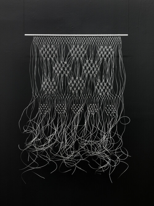 <i>Makramé</i>, 2011<br />wire rope<br />