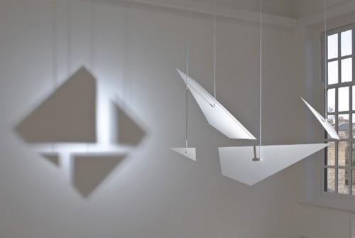 GERMAINE KRUIP<br />»Counter Shadow«, 2008<br />Coated aluminium and daylight spot, 103 x 180 x 77 cm<br />