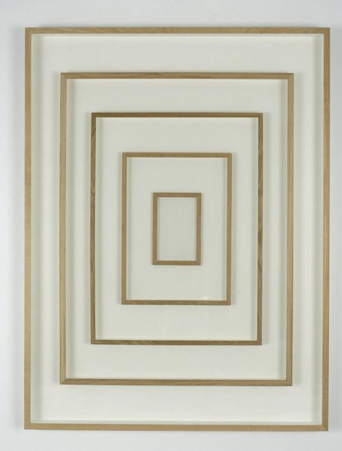 GREGOR HILDEBRANDT<br /><i>Rahmen Rahmen Rahmen</i>, 2005<br />frame behind glass framed, 164 x 124 cm<br />
