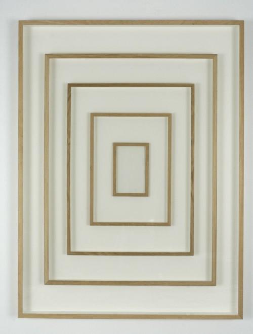 GREGOR HILDEBRANDT<br />»Rahmen Rahmen Rahmen«, 2005<br />frame behind glass framed, 164 x 124 cm<br />