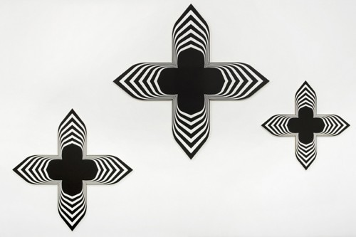 PHILIPPE DECRAUZAT<br />»Untitled (set of 3 paintings)«, 2008<br />acrylic on canvas<br />