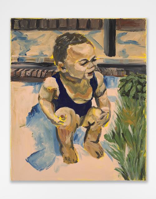 JERRELL GIBBS<br /><i>Warmup</i>, 2020<br />acrylic on canvas, 61 x 51 cm<br />
