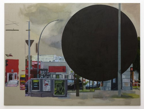 »black hole«, 2010<br />gouache ink on canvas, 240 x 320 cm<br />