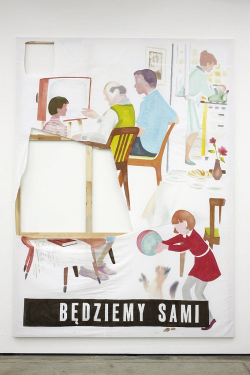 »bedziemy sami«, 2010<br />mixed media on canvas, 300 x 220 cm<br />
