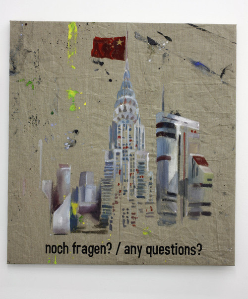 <i>any questions</i>, 2010<br />oil on canvas, 94 x 88 cm<br />