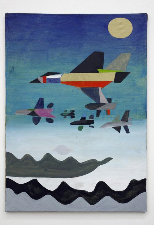 <i>ptaki! (birds)!</i>, 2010<br />acrylic on canvas, 78 x 56 cm<br />