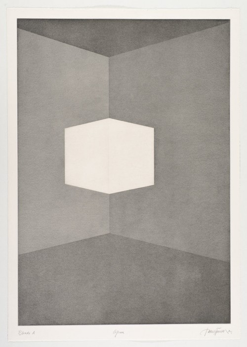 JAMES TURRELL<br />»First Light Blonde / Afrum«, 1989/1990<br />Aquatint, 107 x 76 cm<br />