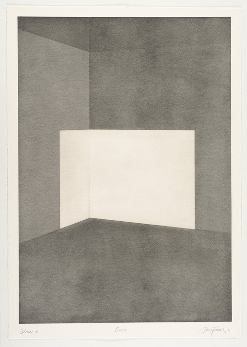 JAMES TURRELL<br /><i>First Light Blonde / Ondoe</i>, 1989/90<br />Aquatint, 107 x 76 cm<br />