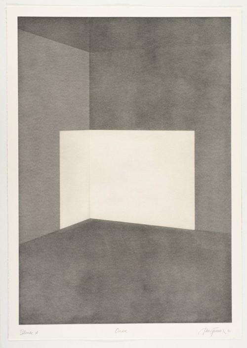 JAMES TURRELL<br />»First Light Blonde / Ondoe«, 1989/90<br />Aquatint, 107 x 76 cm<br />