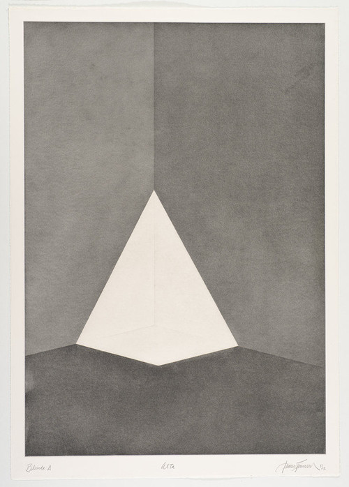 JAMES TURRELL<br /><i>First Light Blonde / Alta</i>, 1989/90<br />Aquatint, 107 x 76 cm<br />