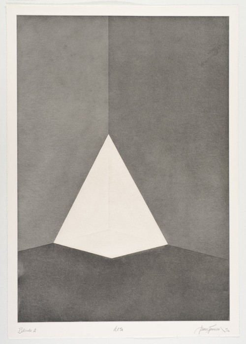 JAMES TURRELL<br />»First Light Blonde / Alta«, 1989/90<br />Aquatint, 107 x 76 cm<br />