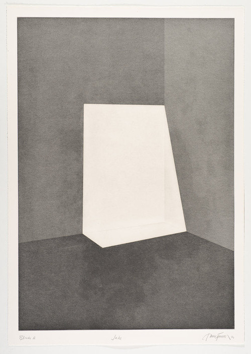 JAMES TURRELL<br /><i>First Light Blonde / Juke</i>, 1989/90<br />Aquatint, 107 x 76 cm<br />