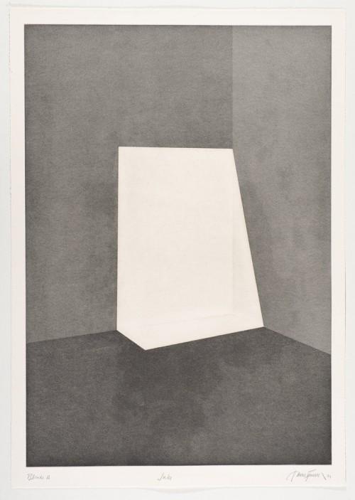 JAMES TURRELL<br />»First Light Blonde / Juke«, 1989/90<br />Aquatint, 107 x 76 cm<br />