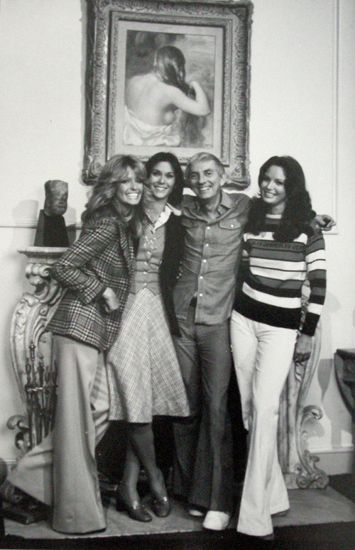 <i>Charley's Angels with Aaron Spelling</i>, 1979<br />vintage photo, 25 x 18 cm<br />