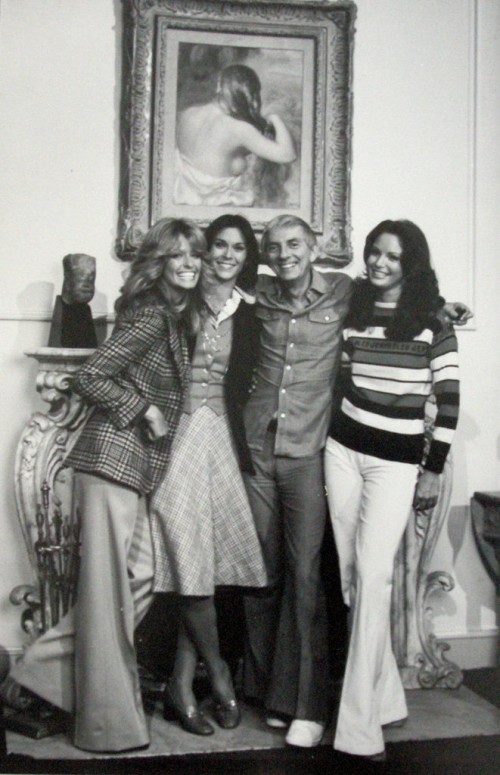 »Charley's Angels with Aaron Spelling«, 1979<br />vintage photo, 25 x 18 cm<br />