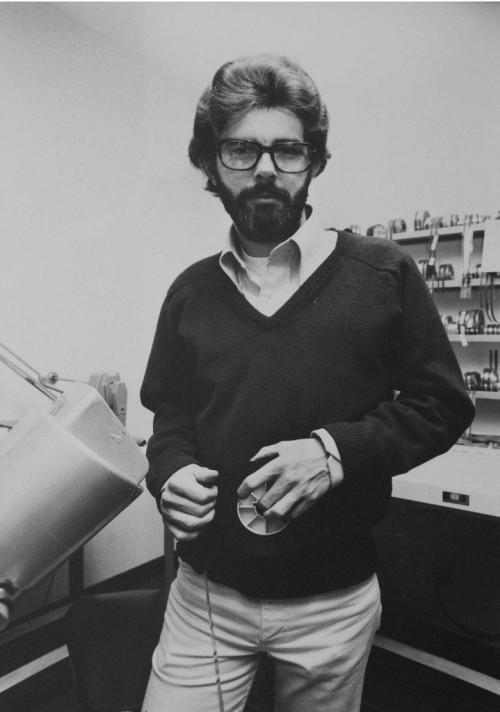 »George Lucas at Goldwyn Studios Hollywood 197«, 1976/2012<br />glycee print, 34 x 48 cm<br />