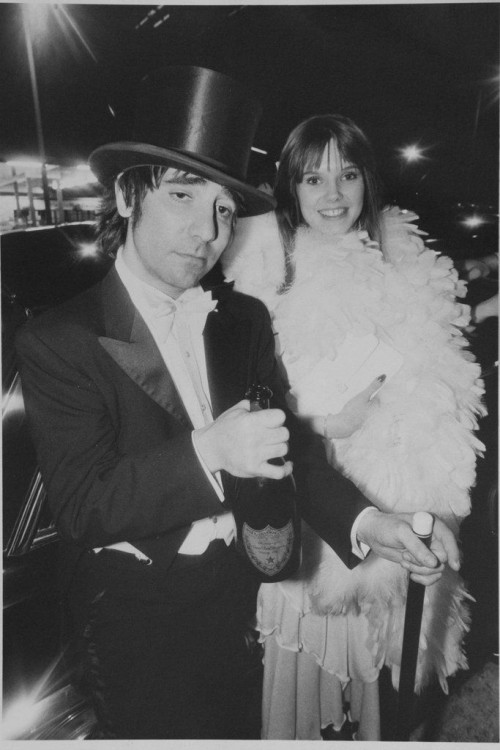 »Keith Moon The Who at Rodneys with a friend«, 1974<br />vintage photo, 25 x 21 cm<br />