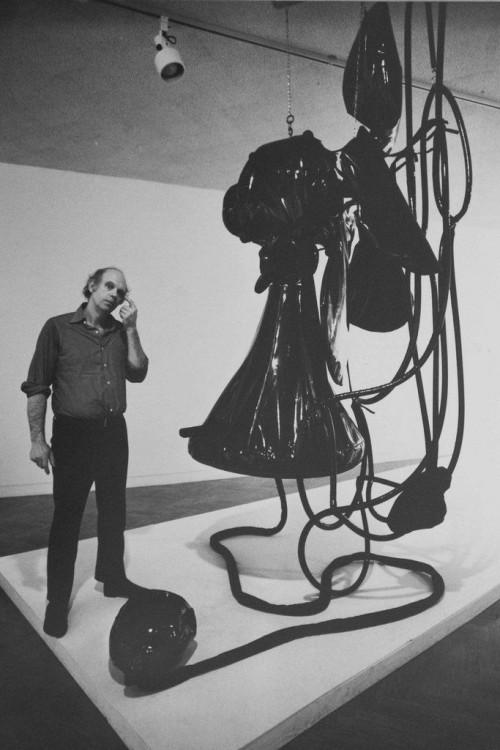 »Claes Oldenburg soft telephone«, 1972<br />vintage photo, 22 x 15 cm<br />