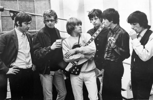 <i>Rolling Stones satisfaction session</i>, 1965<br />vintage photo, 20 x 25 cm<br />