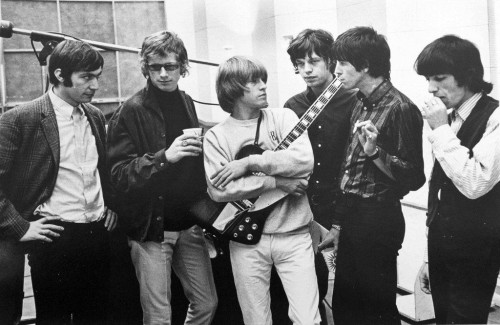 »Rolling Stones satisfaction session«, 1965<br />vintage photo, 20 x 25 cm<br />