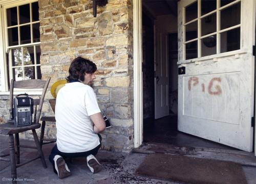 <i>Roman Polanski at the murder house</i>, 1969/2012<br />glycee print, 34 x 48 cm<br />