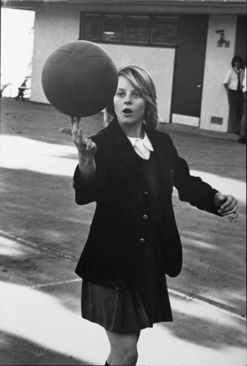 <i>Jody Foster Lycee Francaise age 14</i>, 1976<br />vintage photo, 24 x 17 cm<br />