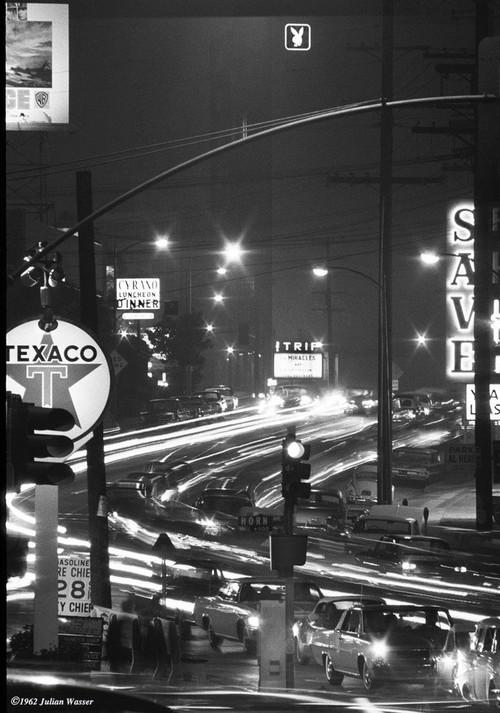 <i>The Sunset Strip at Night</i>, 1964/2012<br />glycee print, 34 x 48 cm<br />