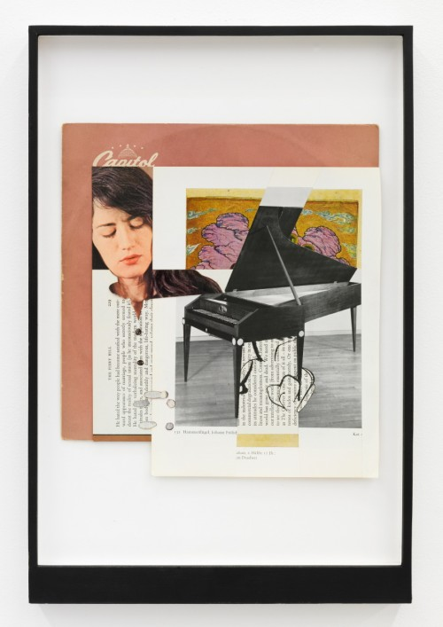 »Page 35 of MILK MIRIAM«, 2012<br />Mischtechnik, Collage, 46 x 31 cm<br />