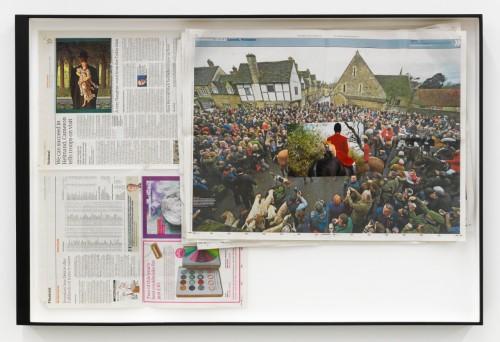 »Page 1 of DIE NEUE MIRIAM«, 2012<br />Mischtechnik, Collage, 69 x 103 cm<br />