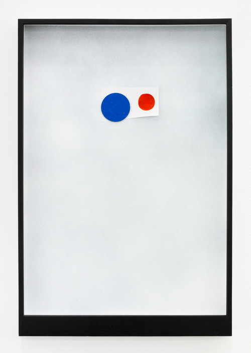 <i>Page 16 of MIRIAM & WILLIAM</i>, 2012<br />Mischtechnik, Collage, Magnet, 45 x 31 cm<br />
